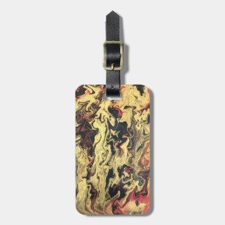Etiqueta De Bagagem Preto & Tag da bagagem do ouro personalizado