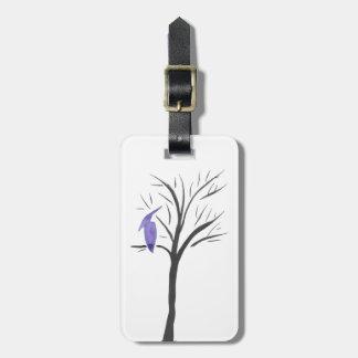 Etiqueta De Bagagem Pterodactyl em uma árvore