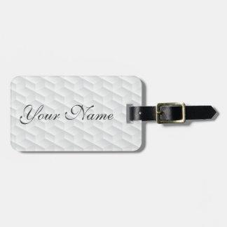 Etiqueta De Bagagem Quadrado branco gravado