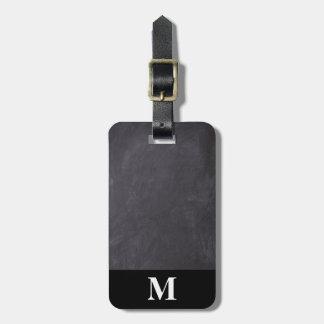 Etiqueta De Bagagem Quadro das cinzas do viagem do monograma