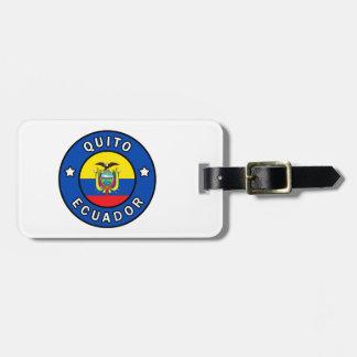Etiqueta De Bagagem Quito Equador