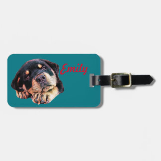 Etiqueta De Bagagem Raça alemão canina do cão de Rott do amor de