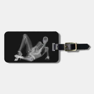 """Etiqueta De Bagagem Radiografia """"sexy"""" da mulher de esqueleto"""