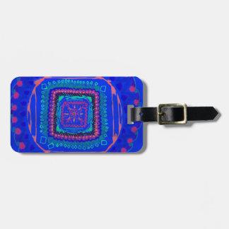 Etiqueta De Bagagem Rapsódia no Tag azul da bagagem