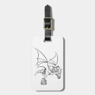 Etiqueta De Bagagem Raptor/tribal voados