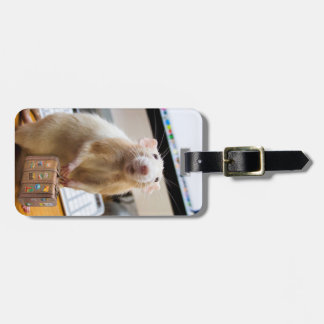 Etiqueta De Bagagem Rato de Marty pronto para o viagem!  (Tag da bagag
