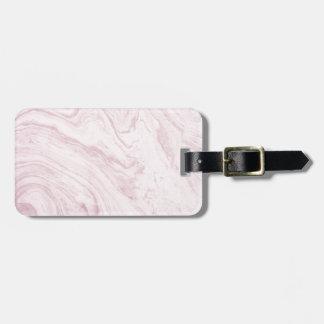 Etiqueta De Bagagem Redemoinho de mármore COR-DE-ROSA feminino super