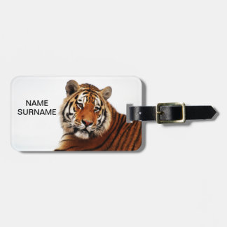 Etiqueta De Bagagem Relance do lado dos tigres