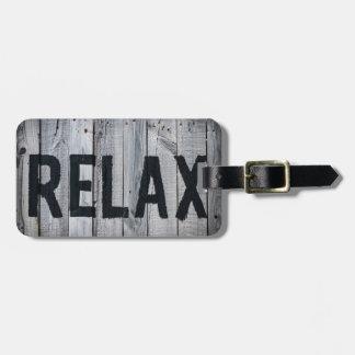 Etiqueta De Bagagem Relaxe