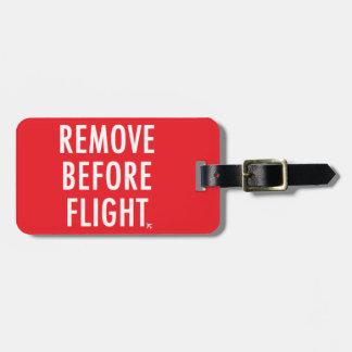 Etiqueta De Bagagem Remova antes do vôo, bandeira não-operacional
