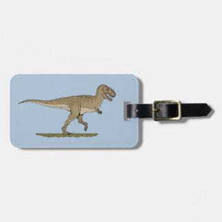 Etiqueta De Bagagem Rex do tiranossauro