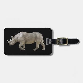 Etiqueta De Bagagem Rhinocerose animado