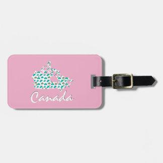 Etiqueta De Bagagem Rosa canadense original do Tag da bagagem de