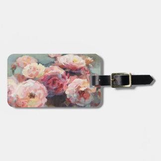 Etiqueta De Bagagem Rosas do rosa selvagem