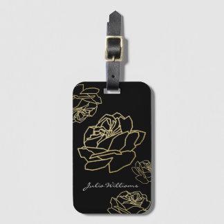 Etiqueta De Bagagem rosas, floral agradável