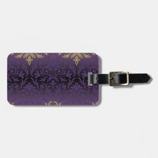 Etiqueta De Bagagem roxo, ultravioleta, damasco, vintage, teste
