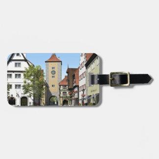 Etiqueta De Bagagem Rua principal da cidade de Baviera