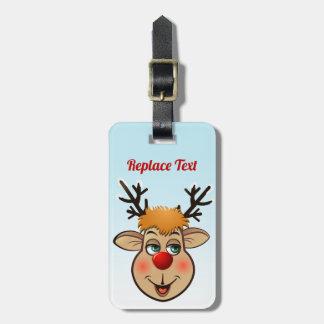 Etiqueta De Bagagem Rudolph - a rena a mais famosa de tudo