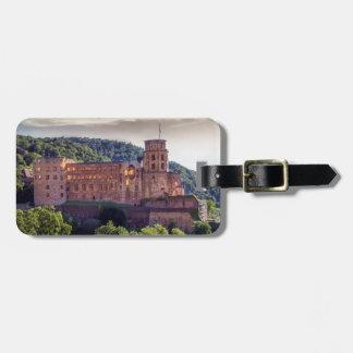Etiqueta De Bagagem Ruínas famosas do castelo, Heidelberg, Alemanha