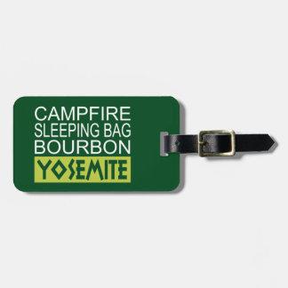 Etiqueta De Bagagem Saco de sono Bourbon da fogueira Yosemite