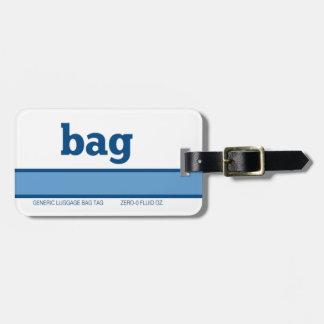 Etiqueta De Bagagem Saco genérico da bagagem