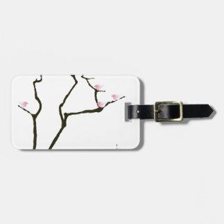Etiqueta De Bagagem sakura e 7 pássaros cor-de-rosa 1, fernandes tony