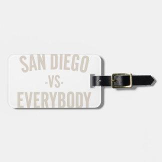 Etiqueta De Bagagem San Diego contra todos