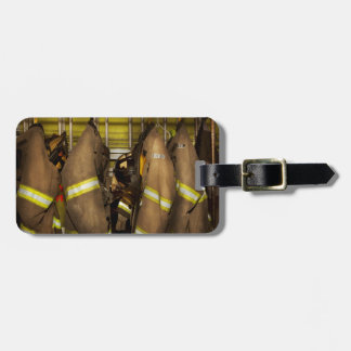 Etiqueta De Bagagem Sapador-bombeiro - engrenagem do depósito