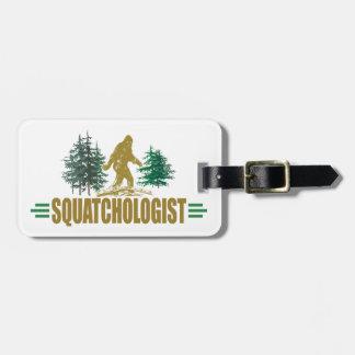 Etiqueta De Bagagem Sasquatch engraçado, Squatchin, Squatching, crente