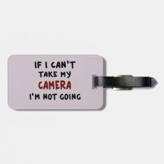Etiqueta De Bagagem Se eu não posso tomar minha câmera…