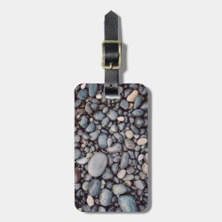 Etiqueta De Bagagem Seixos cinzentos da rocha do viagem