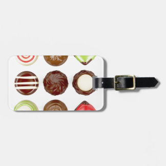 Etiqueta De Bagagem Seleção de doces de chocolate