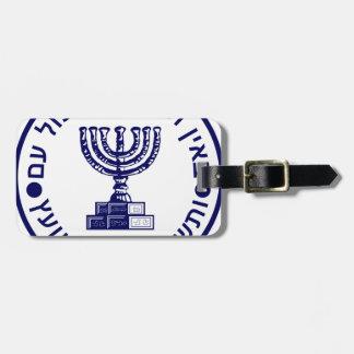 Etiqueta De Bagagem Selo do logotipo de Mossad (הַמוֹסָד)