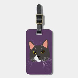 Etiqueta De Bagagem Senhora cinzenta Engraçado Meow Bagagem Tag do