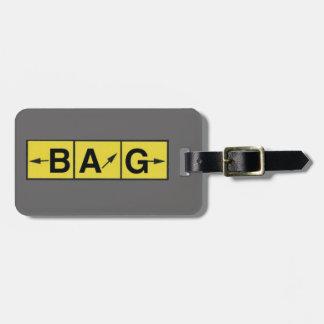 Etiqueta De Bagagem Sentidos PERDIDOS do aeroporto, aviador piloto do