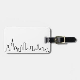 Etiqueta De Bagagem Série da skyline de Chicago