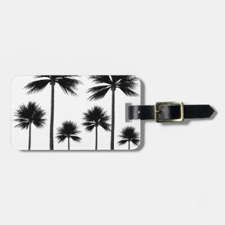 Etiqueta De Bagagem Silhueta da palmeira