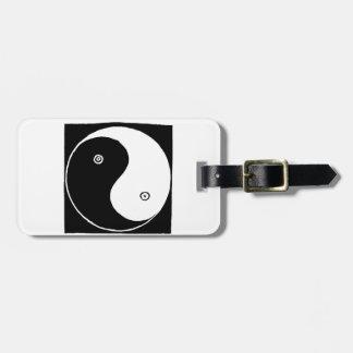 Etiqueta De Bagagem Símbolo de Yin Yang do chinês