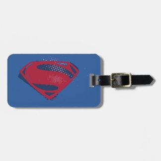 Etiqueta De Bagagem Símbolo do superman da escova & da reticulação da
