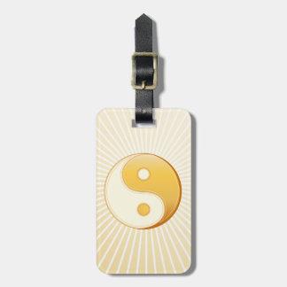Etiqueta De Bagagem Símbolo do taoísmo