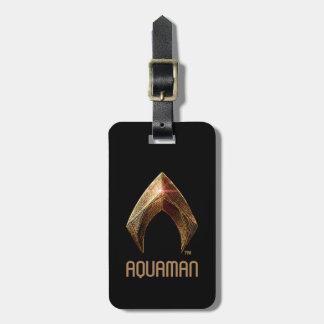 Etiqueta De Bagagem Símbolo metálico da liga de justiça | Aquaman