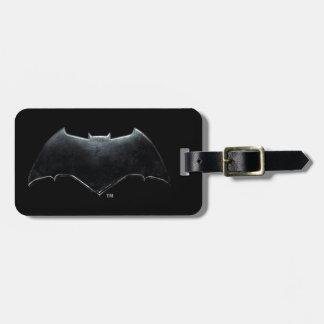 Etiqueta De Bagagem Símbolo metálico da liga de justiça | Batman