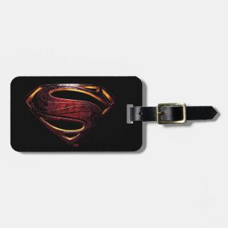 Etiqueta De Bagagem Símbolo metálico do superman da liga de justiça |
