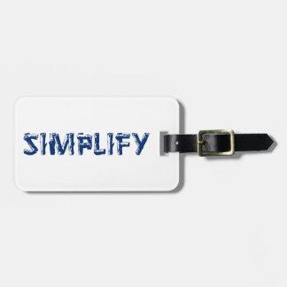 Etiqueta De Bagagem Simplifique