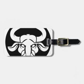 Etiqueta De Bagagem Sinal da astrologia do zodíaco de Bull do Taurus
