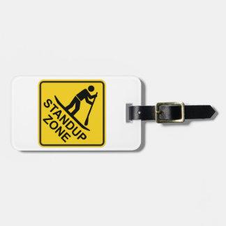 Etiqueta De Bagagem Sinal de estrada Standup da zona de Paddleboarding