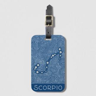 Etiqueta De Bagagem Sinal do horóscopo da estrela da Escorpião - Tag