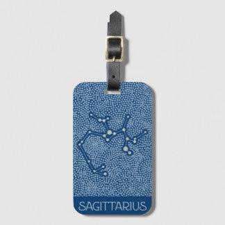 Etiqueta De Bagagem Sinal do horóscopo da estrela do Sagitário - Tag