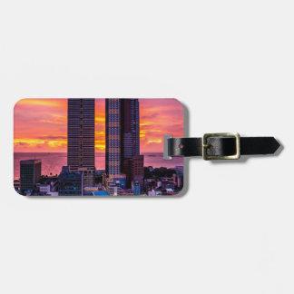 Etiqueta De Bagagem Skyline de Manila Filipinas