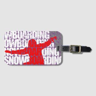 Etiqueta De Bagagem Snowboarding #1 (branca)